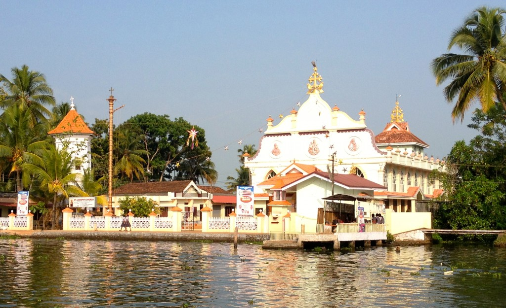 There are a lot of churches on the backwaters.