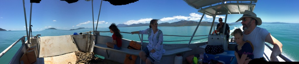 We located a great guide/boat bloke, John. Hinchinbrook Island in the background.