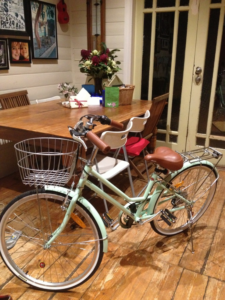 Her many beautiful, thoughtful presents included a bike - with a basket naturally.