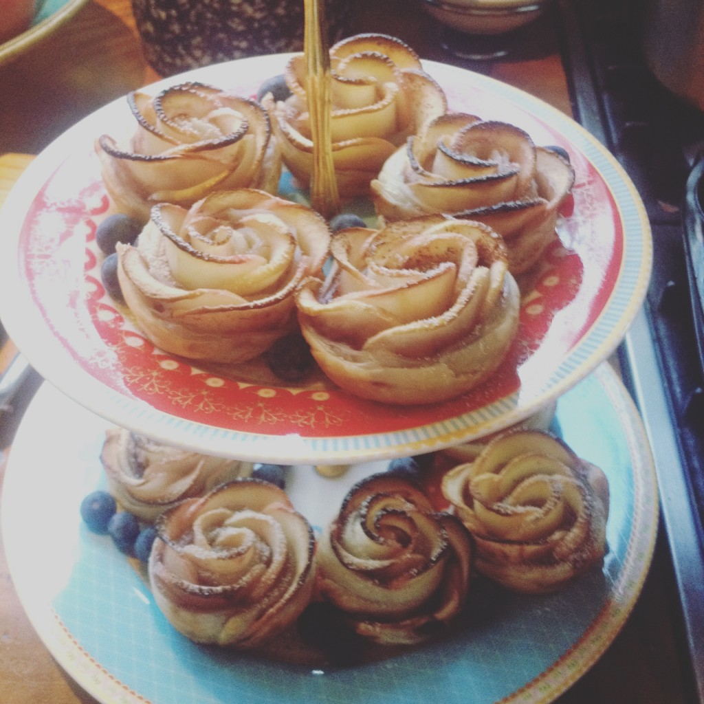 Along with pretty baked apple rose pastries
