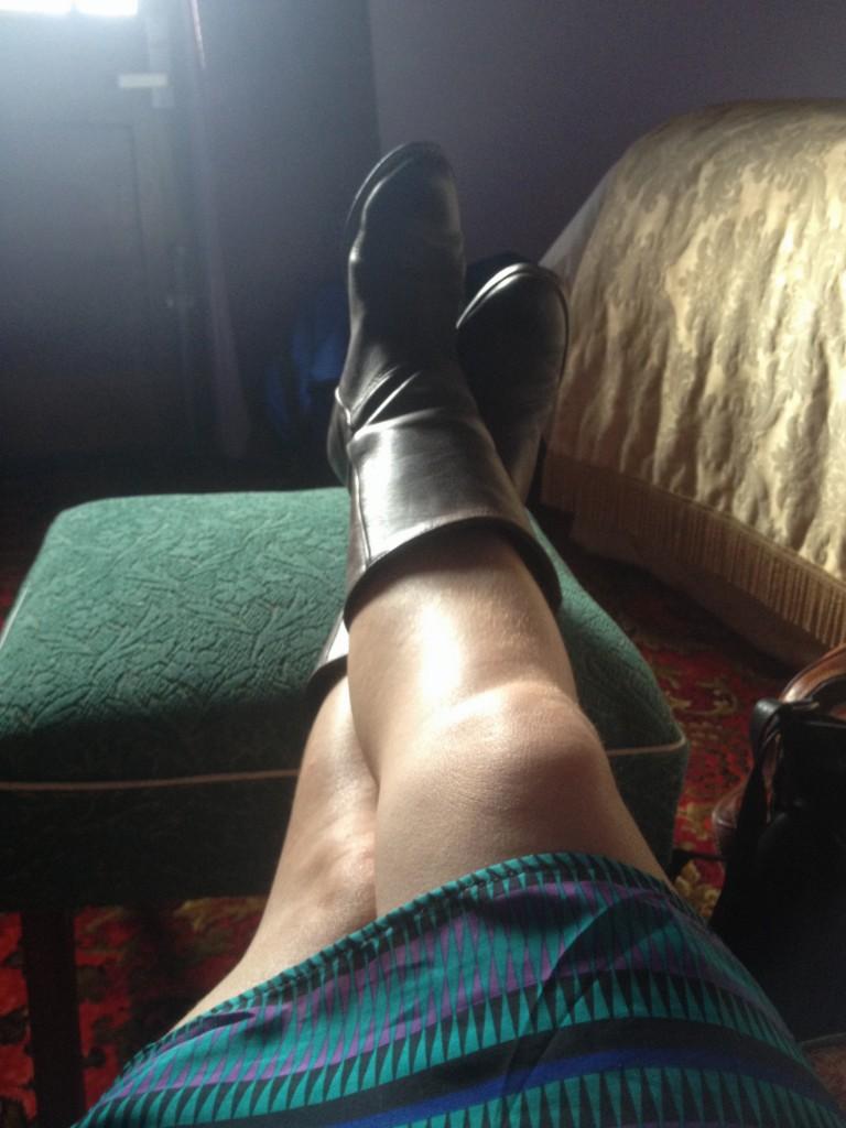 Putting my feet up :)