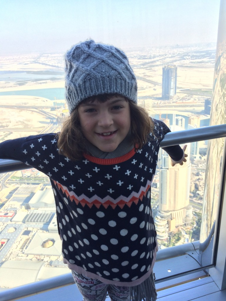 Audrey up high in Dubai