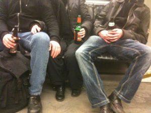 drinking on the ubahn